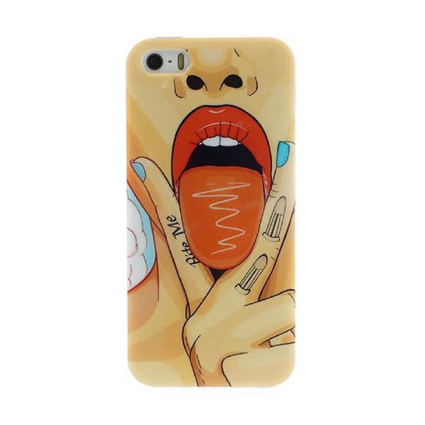 Gumový kryt pro Apple iPhone 5 / 5S / SE - Sexy Lisa