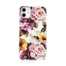Kryt KINGXBAR pro Apple iPhone 11 - s kamínky - plastový - barevné květiny