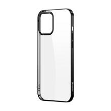 Kryt JOYROOM Samsonite pro Apple iPhone 12 / 12 Pro - gumový - průhledný / černý