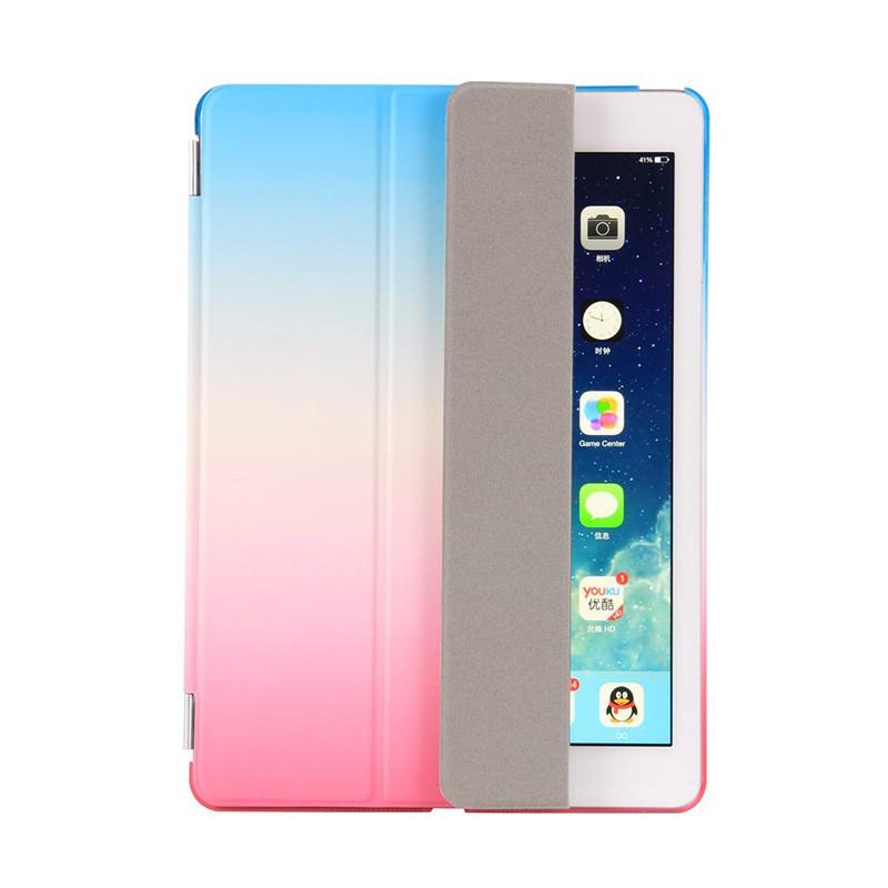 Pouzdro / kryt pro Apple iPad 9,7 (2017-2018) - odnímatelný Smart Cover - stojánek - plastové - růžové / modré