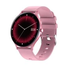 Fitness chytré hodinky LEMONDA QW13 - tlakoměr / krokoměr / měřič tepu - Bluetooth - kulaté - růžové