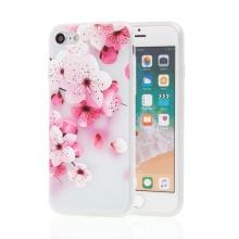 Kryt pro Apple iPhone 7 / 8 - kvetoucí sakura - gumový - matný