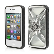 Ochranný plastový kryt pro Apple iPhone 4 / 4S ve stylu alu kola