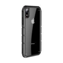 Kryt BASEUS pro Apple iPhone Xr - tankový pás - plastový / gumový - průhledný / zelený