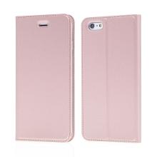 Pouzdro DUX DUCIS pro Apple iPhone 6 Plus / 6S Plus - stojánek + prostor pro platební kartu - Rose Gold