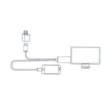Propojovací kabel Lightning - HDMI včetně USB konektoru pro Apple iPhone / iPad a další zařízení - 2m
