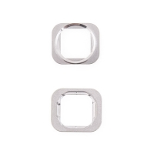 Kovový rámeček tlačítka Home Button pro Apple iPhone 6 / 6 Plus - stříbrný (Silver) - kvalita A+