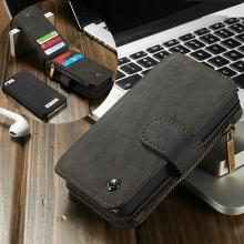 Pouzdro CASEME pro Apple iPhone 5 / 5S / SE - peněženka + odnímatelný kryt na telefon - prostor na doklady - černé
