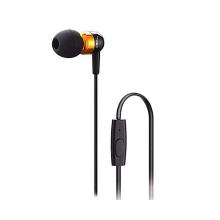 Sluchátka s mikrofonem pro Apple iPhone / iPad / iPod a další zařízení - černá se zlatými prvky