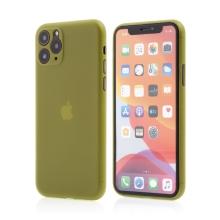 Kryt pro Apple iPhone 11 Pro Max  - s prvkem pro ochranu skla kamery - plastový - žlutý