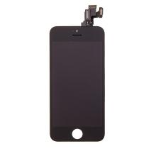 Kompletně osazená přední čast (LCD panel, touch screen digitizér atd.) pro Apple iPhone 5C - černý - kvalita A+