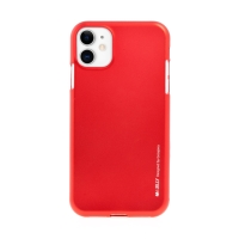 Kryt MERCURY iJelly pro Apple iPhone 11 - gumový - červený - matný