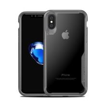 Kryt IPAKY pro Apple iPhone X - plastový / gumový - průhledný / šedý