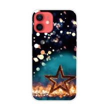 Kryt pro iPhone 12 / 12 Pro - gumový - vánoční hvězda