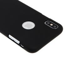 Kryt MERCURY Soft feeling pro Apple iPhone Xs Max - gumový - s výřezem pro logo - černý