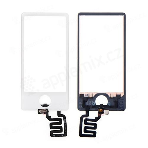 Náhradní sklo s dotykovou vrstvou pro Apple iPod nano 7.gen. (touch screen digitizér) - bílé