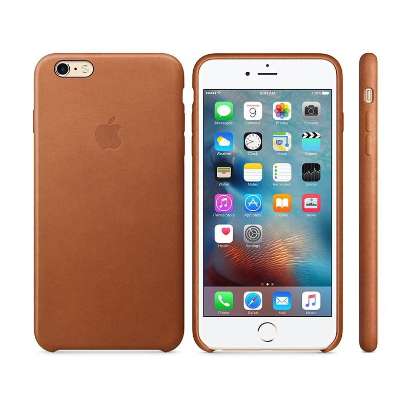 Originální kryt pro Apple iPhone 6 Plus / 6S Plus - kožený - sedlově hnědý