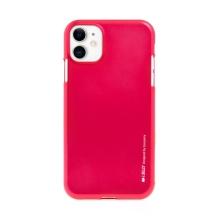 Kryt MERCURY iJelly pro Apple iPhone 11 - gumový - růžový - matný