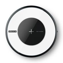 Bezdrátová nabíječka / nabíjecí podložka Qi NILLKIN - plast / sklo - svítící - bílá / černá