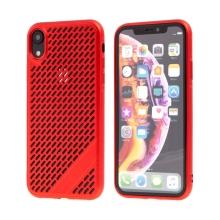 Kryt  pro Apple iPhone Xr - gumový - s otvory - červený