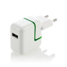 10W EU napájecí adaptér / nabíječka pro Apple iPad / iPhone / iPod - bílá s LED indikátorem