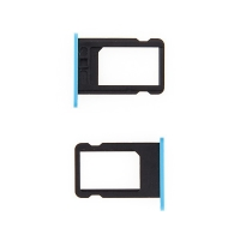 Rámeček / šuplík na Nano SIM pro Apple iPhone 5C - modrý - kvalita A+