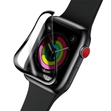 Tvrzené sklo (Tempered Glass) BASEUS pro Apple Watch 38mm series 1 / 2 / 3 - 3D rámeček - černé