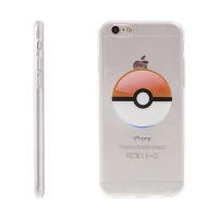 Kryt pro Apple iPhone 6 Plus / 6S Plus gumový - Pokemon Go / Pokeball - oranžový
