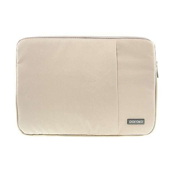 Pouzdro POFOKO se zipem pro Apple MacBook Air / Pro 13 - béžové