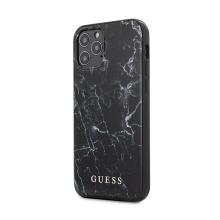 Kryt GUESS Marble pro Apple iPhone 12 Pro Max - plastový / gumový - mramorový - černý