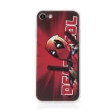 Kryt MARVEL pro Apple iPhone 7 / 8 / SE (2020) - gumový - Deadpool - červený