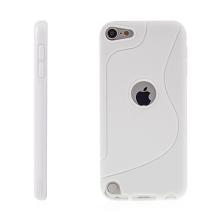 Kryt pro Apple iPod touch 5. / 6.gen. gumový výřez pro logo bílý