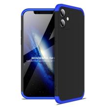 Kryt pro Apple iPhone 12 mini - 360° ochrana - plastový - černý / modrý