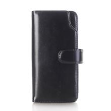 Pouzdro / peněženka pro Apple iPhone X - vyjímatelný kryt - umělá kůže - černé