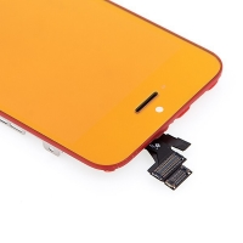 LCD panel + dotykové sklo (touch screen digitizér) + Home Button pro Apple iPhone 5 - pogalvanizovaný povrch
