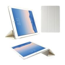 Pouzdro / obal pro Apple iPad Air 2 - funkce uspání a probuzení / stojánek / výřez pro logo - bílé