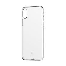 Kryt BASEUS pro Apple iPhone X / XS - se záslepkou - gumový - průhledný