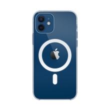 Originální kryt pro Apple iPhone 12 / 12 Pro - Magsafe - gumový - průhledný