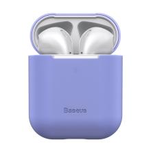 Pouzdro / obal BASEUS pro Apple AirPods - silikonové - fialové
