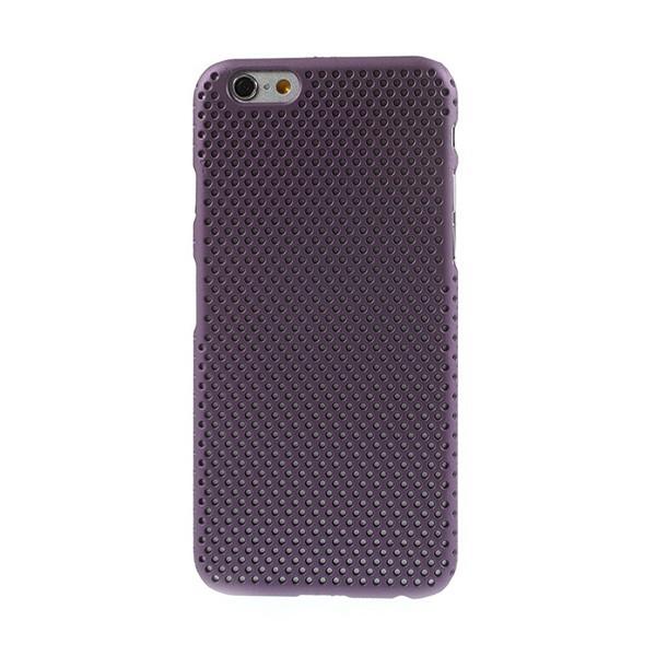 Ochranný plastový kryt pro Apple iPhone 6 / 6S - děrovaný - fialový