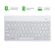 Univerzální mobilní klávesnice bluetooth 3.0 - podsvícená klávesnice - bílá
