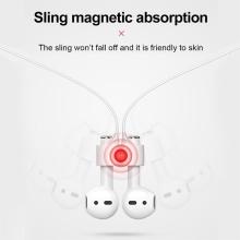 Pouzdro / obal + šňůrka BASEUS pro Apple AirPods - silikonové