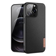 Kryt DUX DUCIS FINO pro Apple iPhone 13 Pro - látková textura - černý