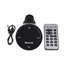 FM transmitter / vysílač + autonabíječka USB (1A) + Bluetooth 3,0 handsfree - dálkové ovládání - černý