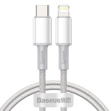 Synchronizační a nabíjecí kabel BASEUS - USB-C - Lightning - bílý - 1m