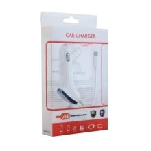 Auto-nabíječka (1A) s USB portem, spirálovým kabelem a Lightning konektorem pro Apple iPhone / iPod touch
