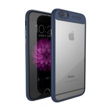 Kryt IPAKY pro Apple iPhone 6 / 6S - plastový / gumový - průhledný / tmavě modrý