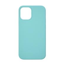 Kryt TACTICAL Velvet Smoothie pro Apple iPhone 12 Pro Max - příjemný na dotek - silikonový - azurově modrý