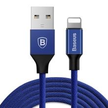 Synchronizační a nabíjecí kabel BASEUS - konektor Lightning pro Apple iPhone / iPad / iPod - modrý - 3m
