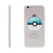 Kryt pro Apple iPhone 6 / 6S gumový - Pokemon Go / Pokeball - modrý